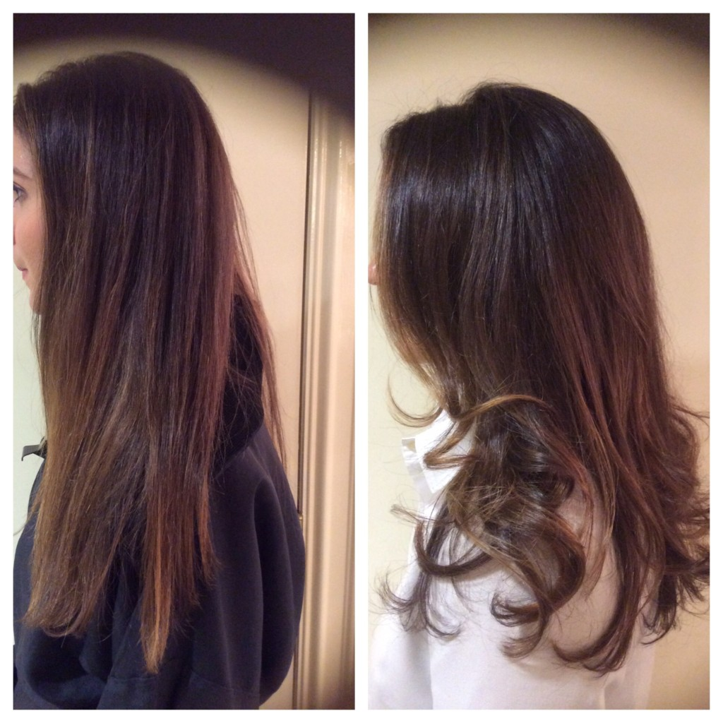 Darkened Base with Balayage